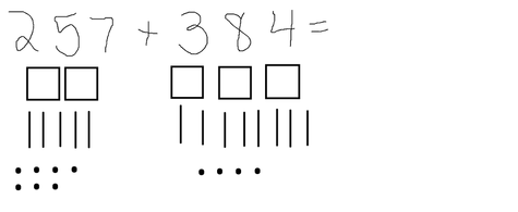 Category: 3 Digit Addition W/ Regrouping Sticks And Dots